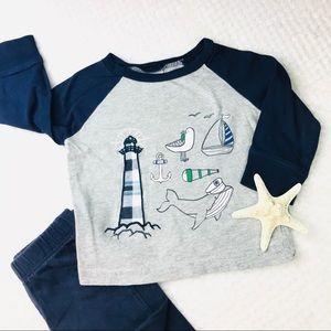Gymboree lighthouse long sleeve 100% cotton shirt